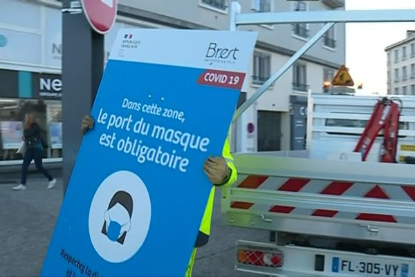 Le port du masque devient obligatoire dans toute la ville, à Quimper et à Brest