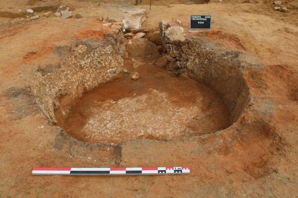 Un four à chaux datant du début du IVe siècle.
