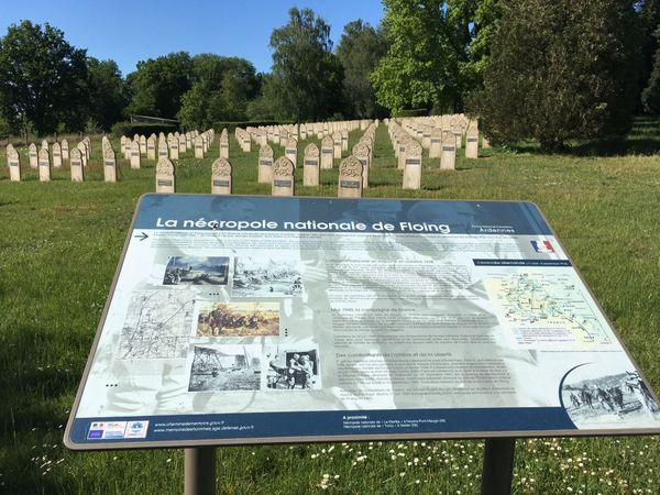 Carré où sont inhumés les Saphis algériens morts lors des combats de La Horgne, Nécropole Nationale de Floing.
