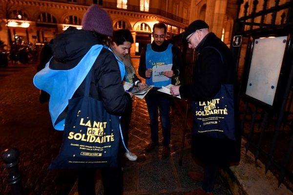1.700 bénévoles ont participé à la Nuit de la solidarité.