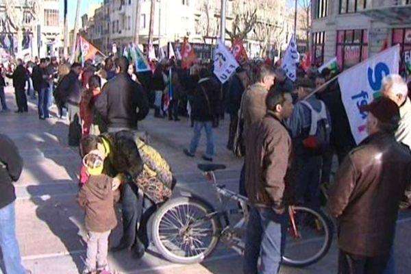 Perpignan - manifestation des fonctionnaires - 31 janvier 2013.