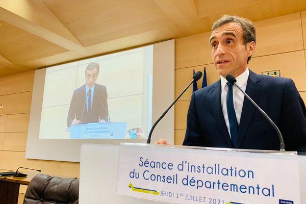 Rodez - Arnaud Viala élu président du Conseil départemental de l'Aveyron avec 34 voix sur 46 - 1er juillet 2021.