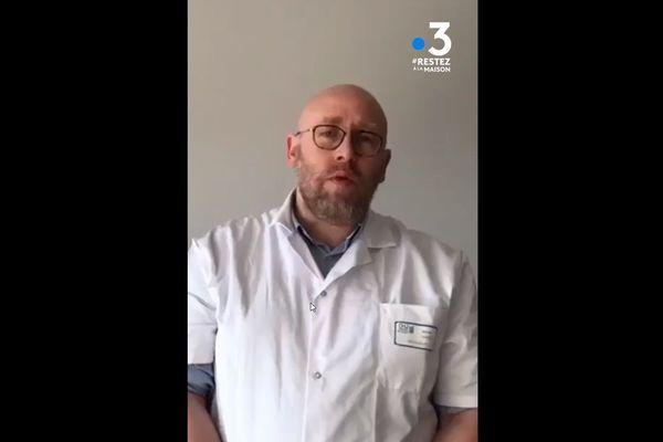 Maxime Gignon, épidémiologiste au CHU d'Amiens