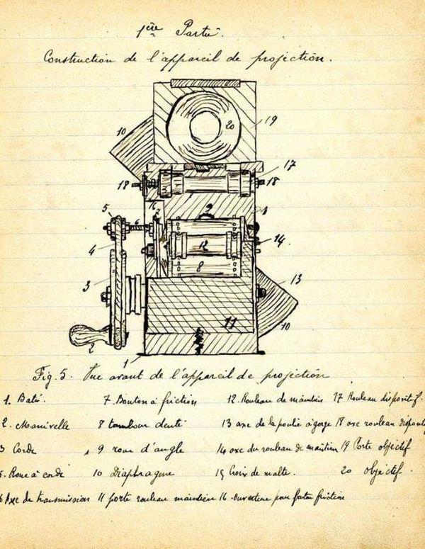 Le projecteur imaginé et dessiné par Georges Noël