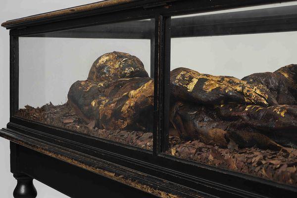 La momie a été découverte en 1906 en Egypte.