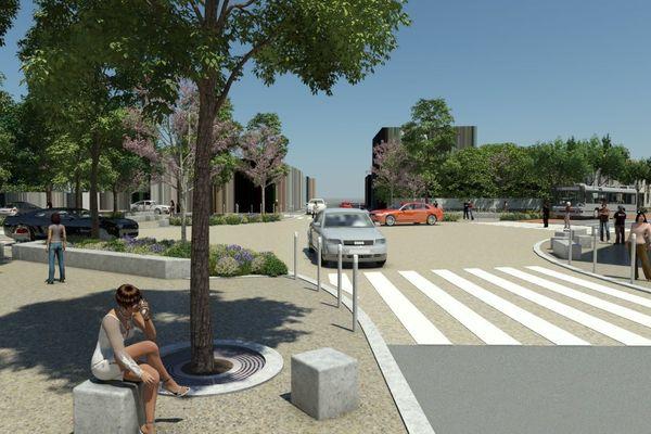 Des carrefours sans terre-plein central pour faciliter le passage des bus.