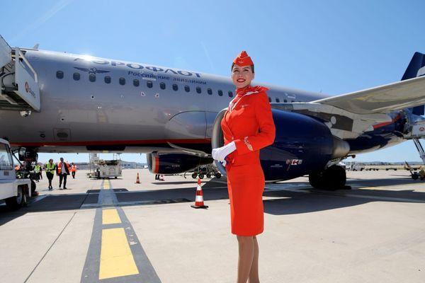 01/06/2019. Inauguration du premier vol Aeroflot, reliant Moscou à Marseille, à l'Aéroport Marseille Provence.