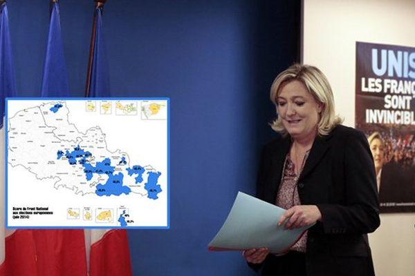 Marine Le Pen, présidente du Front National, fait du Nord Pas-de-Calais, un de ses objectifs pour les élections départementales.