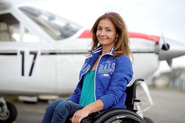 La pilote de voltige Dorine Bourneton en 2016