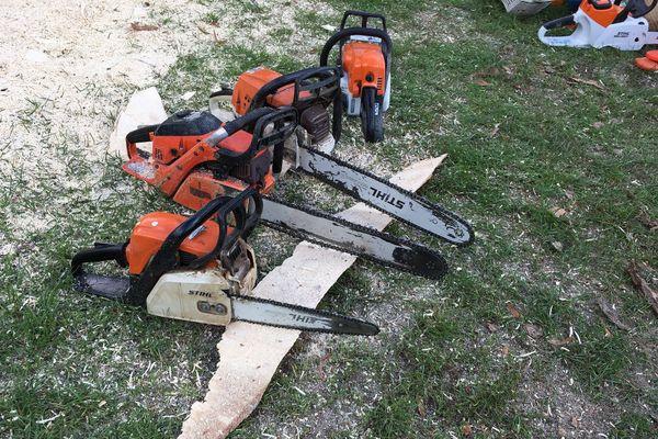 Le seul outil utilisé : la tronçonneuse.