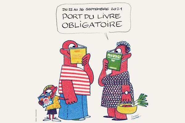Le dessin de l'affiche des 23ème Correspondances de Manosque réalisée par Emmanuel Guibert.