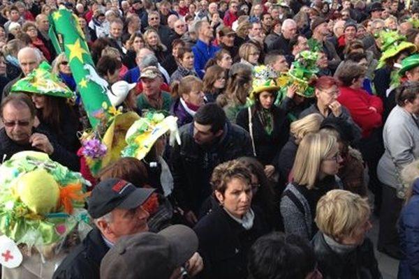 Le public de Vesoul assiste à l'élection de la Catherinette 2014