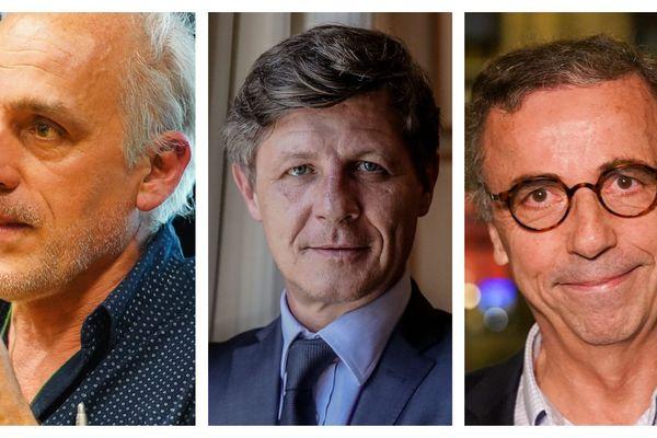 Les trois candidats en lice pour la conquête de Bordeaux.