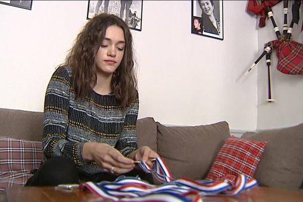 Eva aimerait aller jusqu'aux jeux olympiques. Et s'entraîne dur.