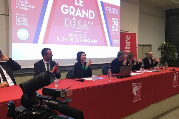 Montpellier - le grand débat des Municipales à la faculté de droit - 29 janvier 2020.