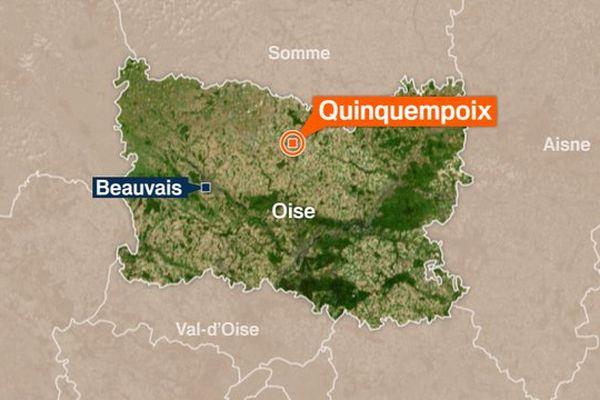 L'accident s'est produit dans la petite commune de Quinquempoix.