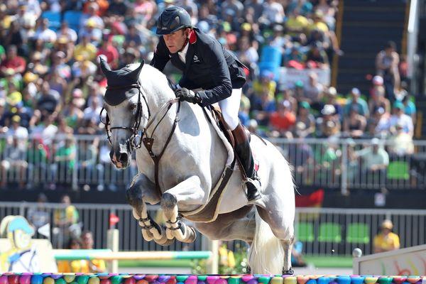 Le cavalier seine-et-marnais Philippe Rozier lors du tournoi olympique de sports équestres, aux Jeux olympiques de Rio.