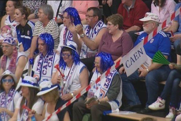 Près de 50 supporters du CBC ont fait le déplacement pour soutenir les Caennais.