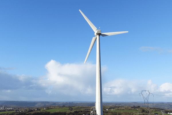 Parc éolien Nerzh An Avel à Dinéault (29) : en Bretagne, Enercoop soutient les producteurs d'énergie renouvelable.