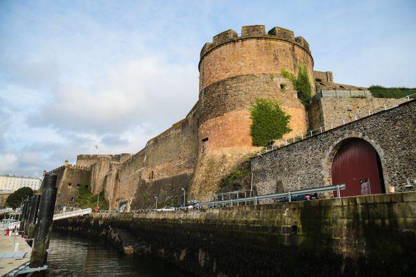 Vue sur le château de la base navale de Brest. Photo d'illustration.