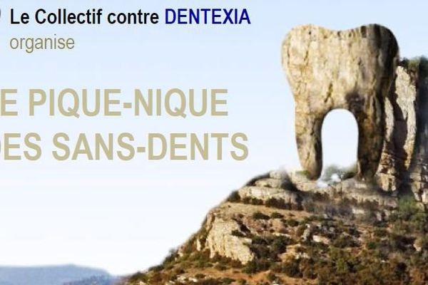Le collectif utilise le lieu symbolique de Solutré comme lieu de Résistance, et aussi, la roche, évoquant une dent