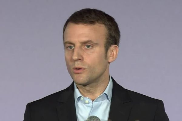 Emmanuel Macron à l'annonce du mouvement En Marche !