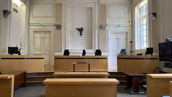 La salle des audiences civiles du tribunal judiciaire de Pau
