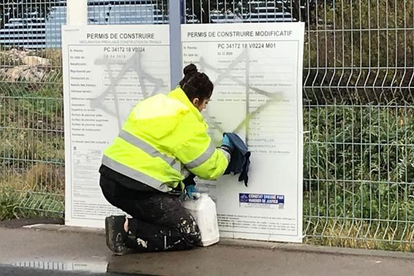 Montpellier : 2 tags antisémites découverts à Odysseum - 20 janvier 2021.