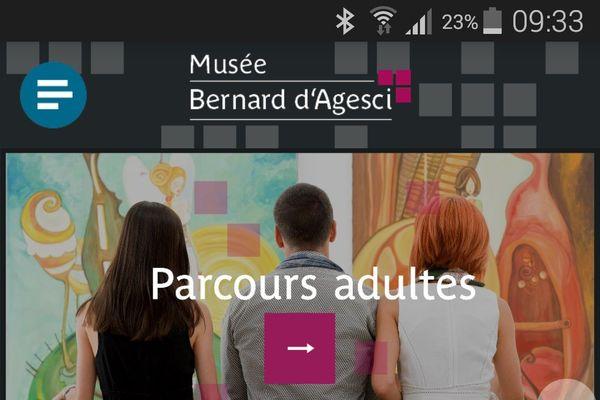 visuel de l'application du musée Bernard d'Agesci