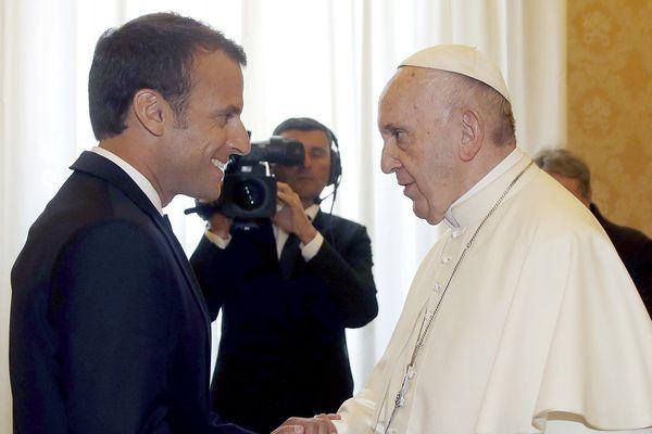 Emmanuel Macron et le Pape François ce 26 juin au Vatican