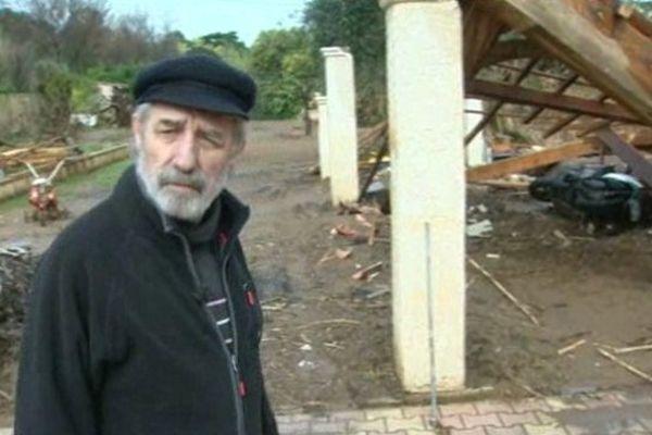 Jean-Paul a tout perdu dans les inondations de janvier dernier.