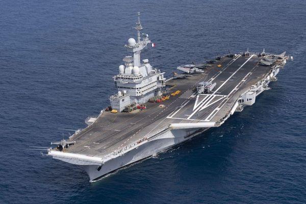 Le Charles de Gaulle en mission en Méditerranée orientale, le 26 février 2020 dernier
