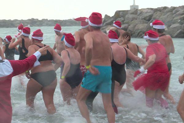 Les baigneurs ont bravé le froid, bravo !