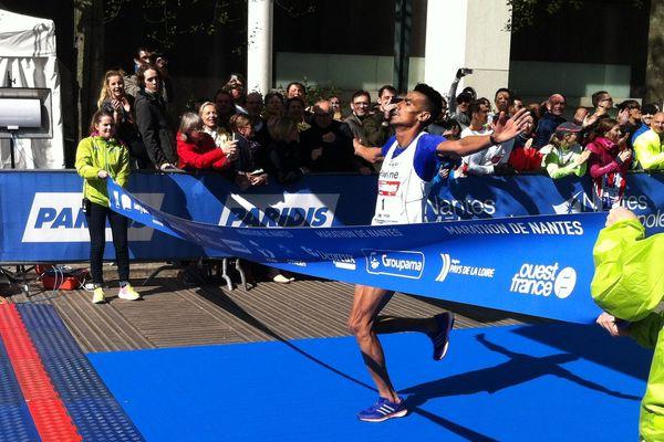 khalil Lemcieh (Maroc) vainqueur du marathon de Nantes en 2h16