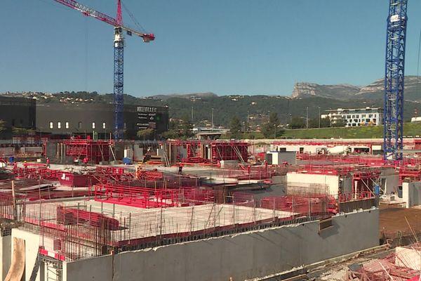 Le chantier d'Ikea, près de l'Allianz Riviera le 19 février 2020 à Nice.
