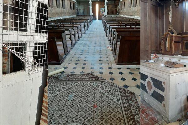 L'église de Marly-Gomont a été vandalisée dans la nuit de jeudi à vendredi 24 avril.