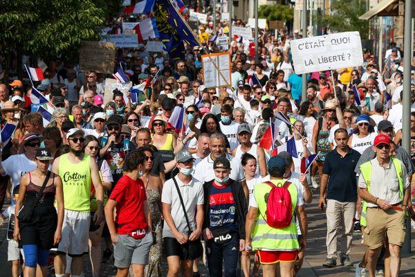 A Belfort, des manifestations contre le passe sanitaire sont organisées quasiment tous les samedis depuis plusieurs mois