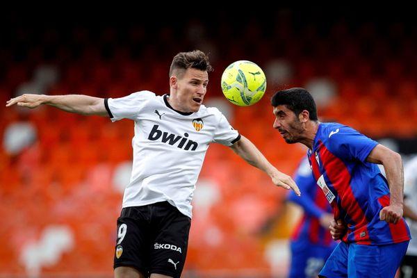 Kévin Gameiro dans son équipe Spanish LaLiga/Valencia CF, en Mai 2021