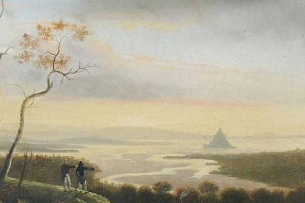 La Baie vue d'Avranches en 1840 de Legendre