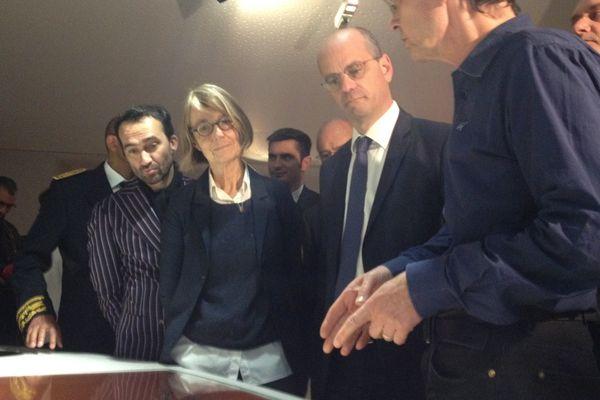 Françoise Nyssen, Ministre de la Culture et Jean-Michel Blanquer, Ministre de l'Éducation nationale, au musée de la bande dessinée d'Angoulême