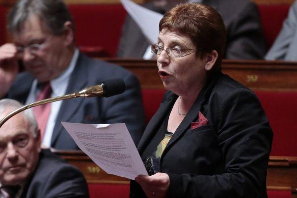 Brigitte Allain à l'Assemblée Nationale