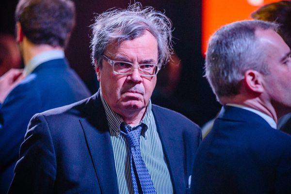 Le député PRG du Calvados Alain Tourret le 2 mars dernier lors de la présentation du programme présidentiel d'Emmanuel Macron