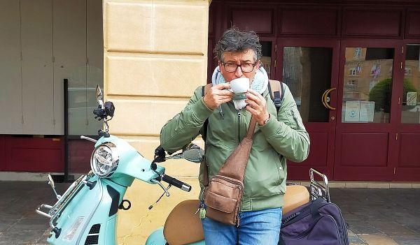 Denis Perrette a prévu de s'arrêter dans les cafés et les boulangeries.