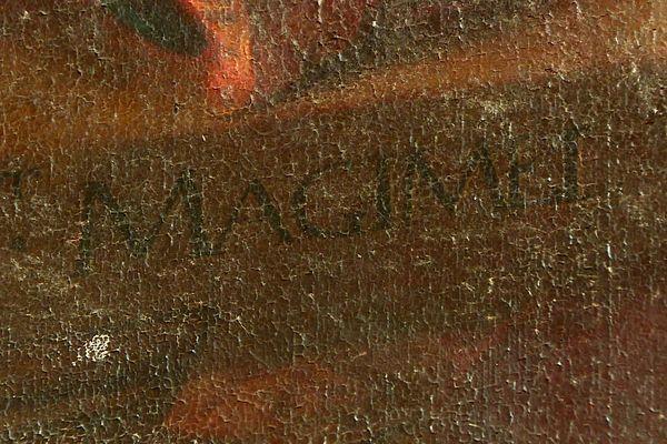Signature de Magimel sur le tableau à l'église de Givors