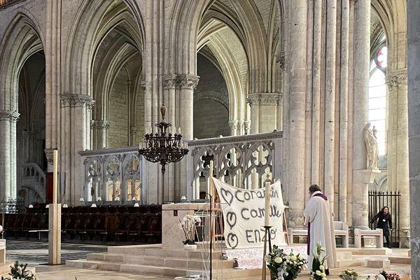 Beaucoup d'émotion dans la cathédrale de Troyes en souvenir d'Enzo, Corantin et Camille