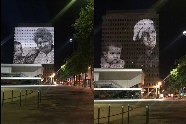 Photos d'Erick Deroost lors des essais de projection