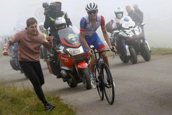 David Gaudu lors de la 17è étape de ce Tour de France 2021. Une étape de montagne particulièrement appréciée par ce grimpeur originaire de Landivisiau dans la Finistère.