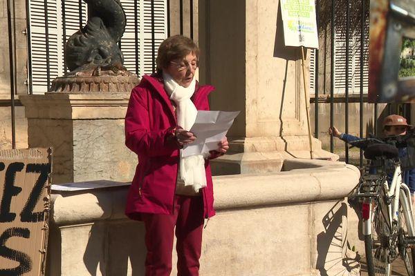 A Dole, dans le Jura, Sylvette Perrette, 84 ans, est la principale organisatrice des manifestations pour le climat