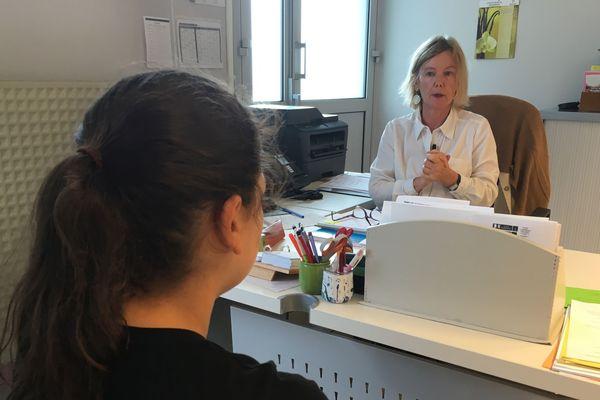 Brigitte Collet, infirmière scolaire au collège Donzelot de Limoges.