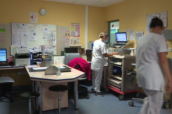 A l'hôpital d'Aubenas, en Ardèche, une seule hospitalisation Covid est enregistrée